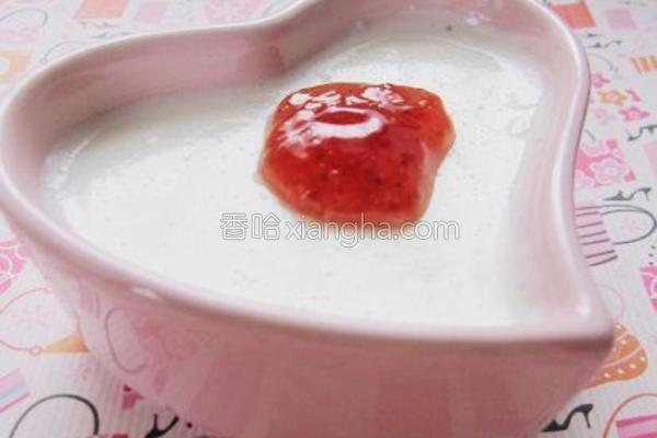 草莓豆腐的做法