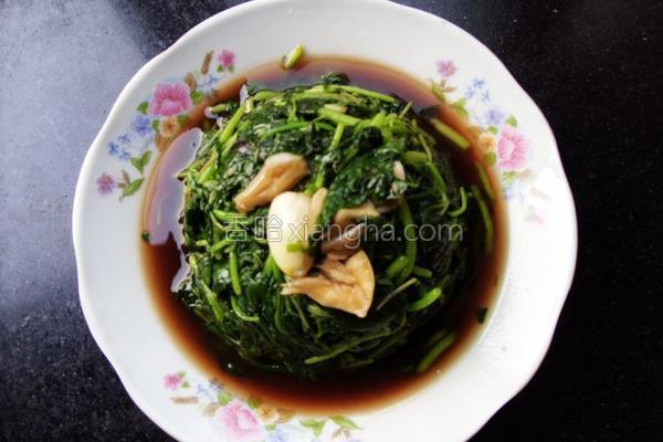 蚝香苋菜的做法