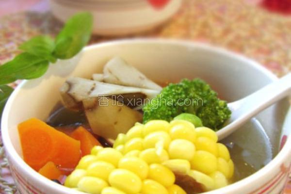 """""""五行""""彩蔬汤的做法"""