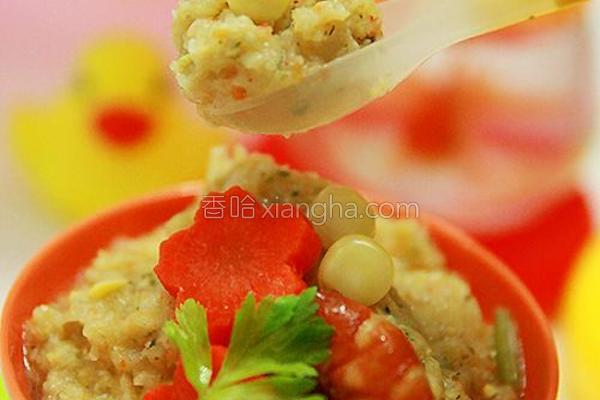 乳香鲜虾玉米酪的做法