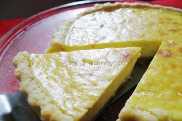 柠香乳酪派的做法