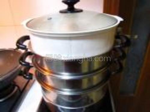 冷水上锅蒸了25分钟左右关火。