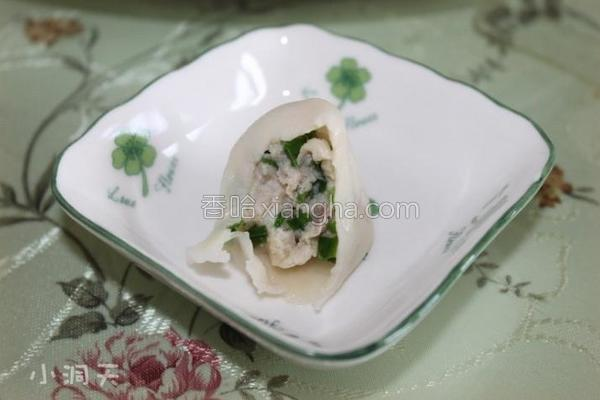 鱼肉水饺的做法
