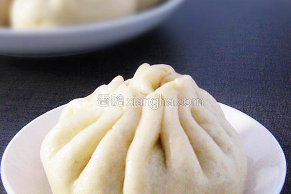 小白菜香菇素包的做法
