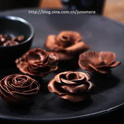 手工巧克力花的做法[圖]