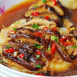 香菇火腿蒸鳕鱼的做法[图]