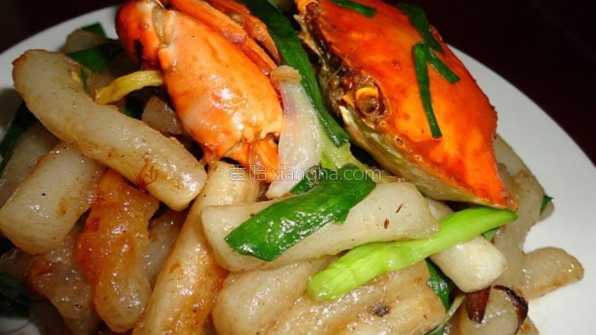 膏蟹炒韩国年糕