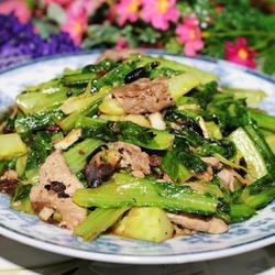 豉香肉片油麦菜的做法[图]