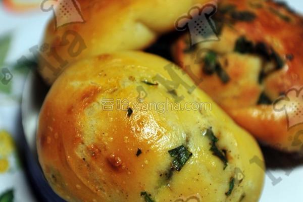 味增香葱面包的做法