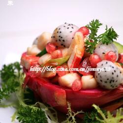 火龙果石榴海鲜盅的做法[图]