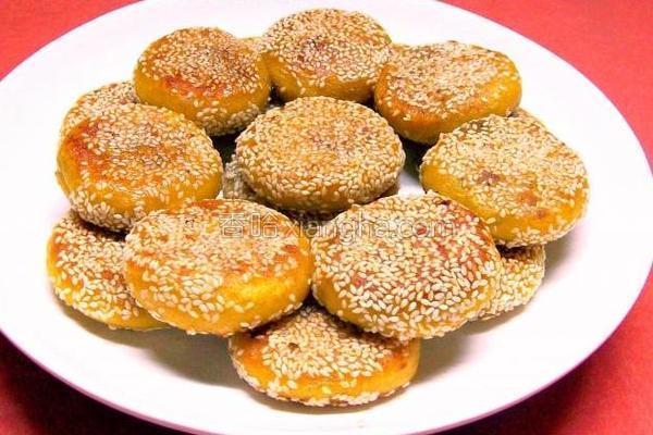 芝麻流沙南瓜饼的做法