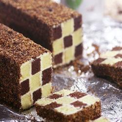 雙色棋格奶油蛋糕的做法[圖]
