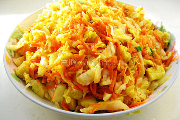 胡萝卜卷心菜炒馒头的做法