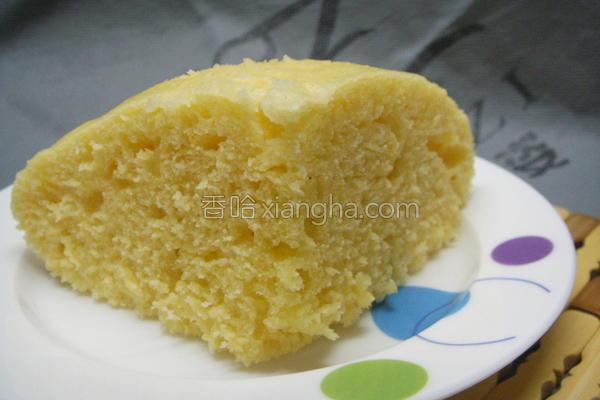 玉米发糕的做法