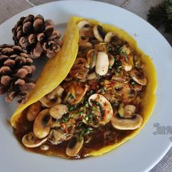 蘑菇大葱煎饼的做法[图]