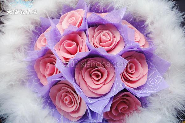 巧克力玫瑰花束的做法