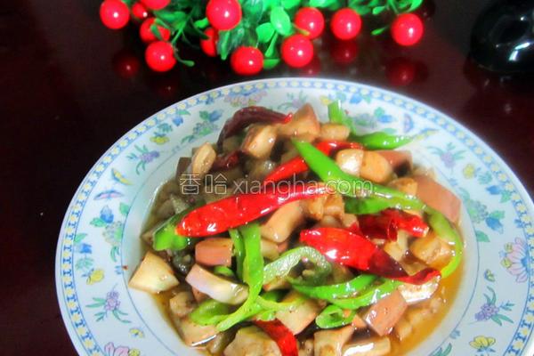 红椒炒茄丁的做法