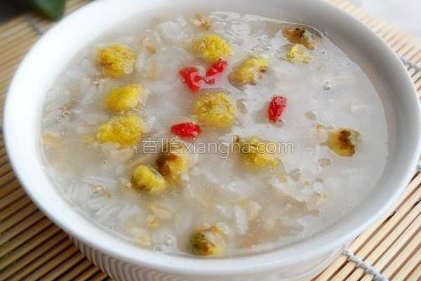 菊花燕麦粥