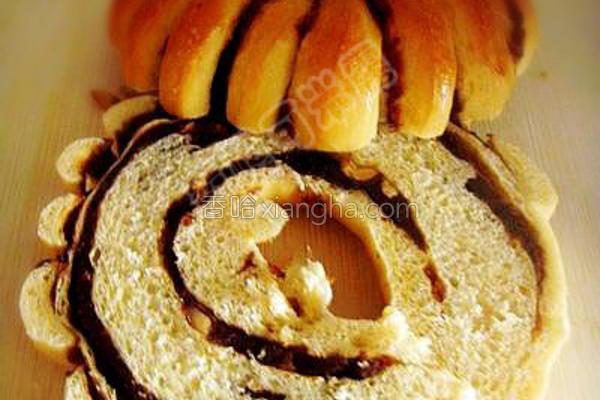 豆沙花生面包圈的做法