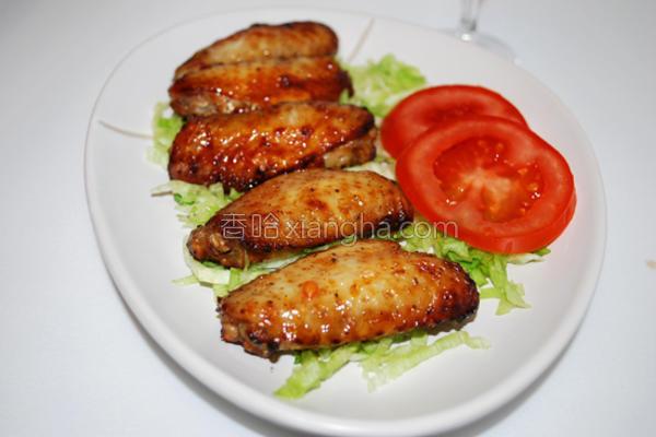 黑椒汁烤鸡中翅的做法