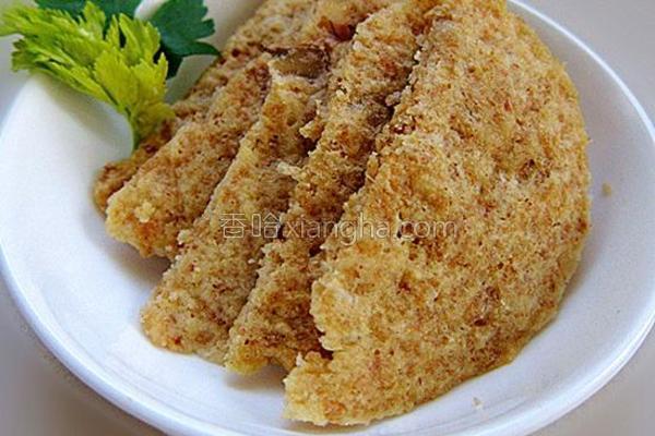 核桃豆渣饼