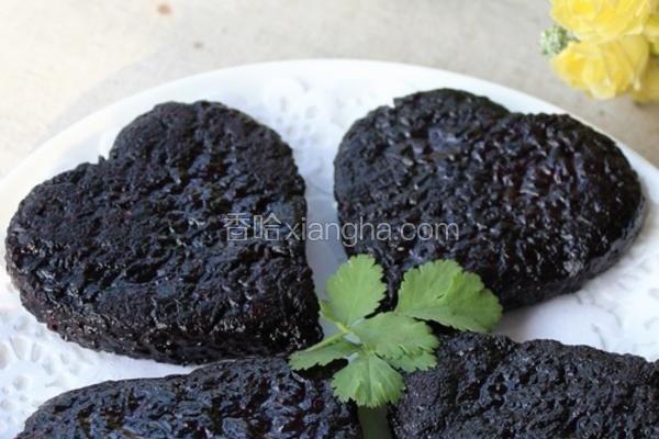 香煎爱心黑米饼