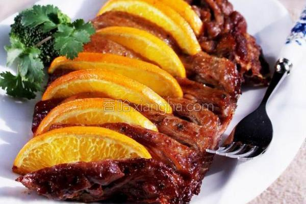 香橙烤鸭胸的做法