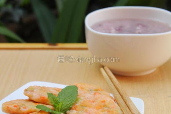 水晶虾饼成品图
