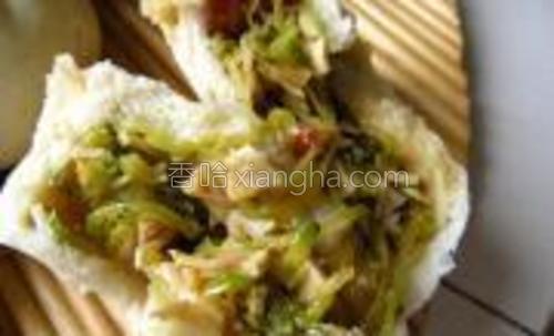 南瓜和腊肉味道相得益彰。