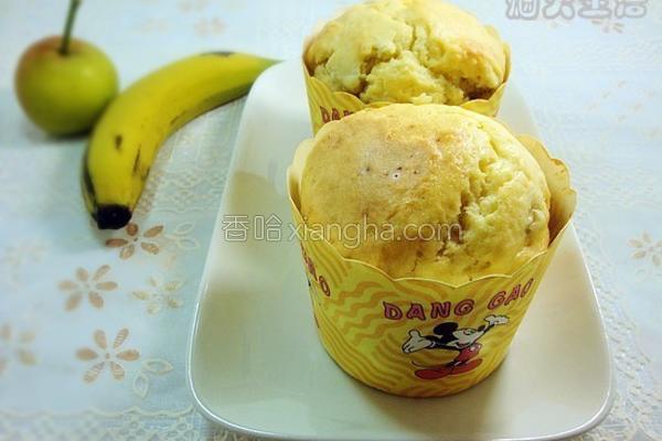 香蕉果肉玛芬的做法