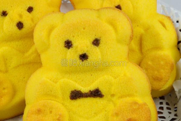 小熊蛋糕的做法