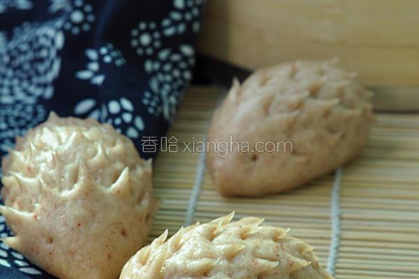 小刺猬豆沙包的做法