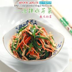 涼拌辣味水芹菜的做法[圖]