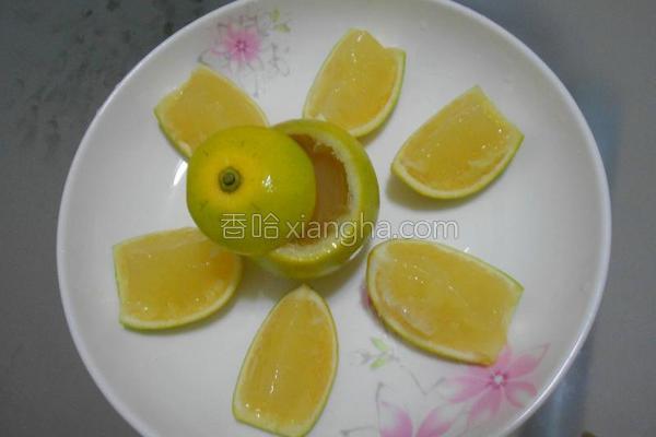柳橙果冻的做法