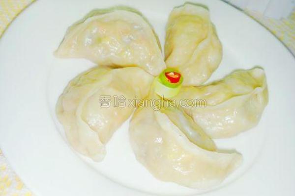 五彩北瓜蒸饺的做法
