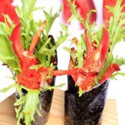 加拿大龙虾龙鳌鱼籽手卷的做法[图]