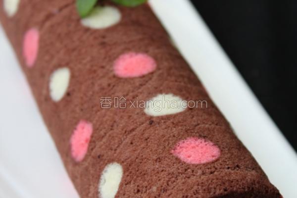彩色波点蛋糕卷的做法