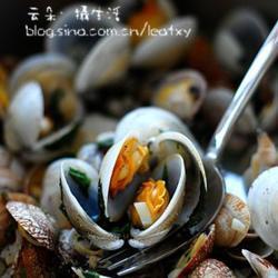 意式香蒜蛤蜊煮的做法[图]