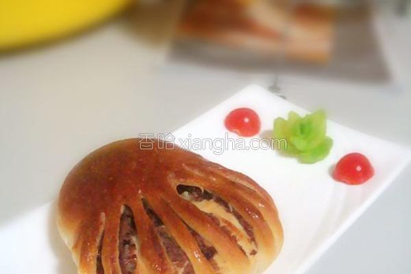 佛手豆沙面包的做法