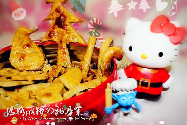 圣诞姜饼熊的做法