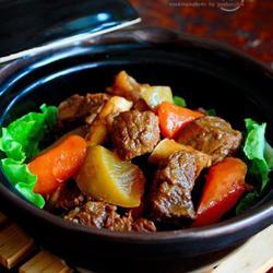 青红萝卜焖牛肉的做法[图]