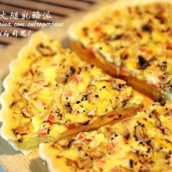 蘑菇火腿乳酪派的做法[图]