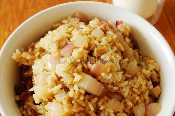 洋葱炒饭的做法