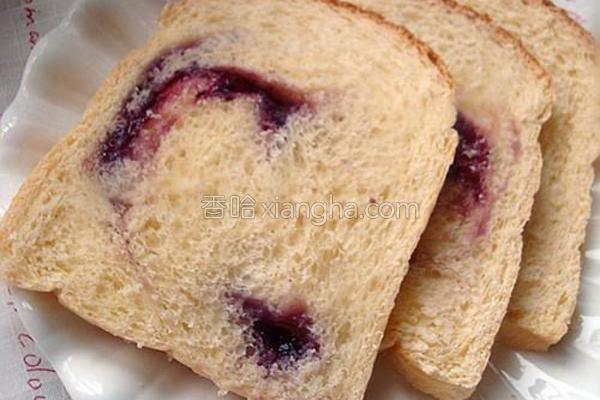 北海道蓝莓吐司的做法