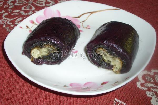 紫糯米团的做法
