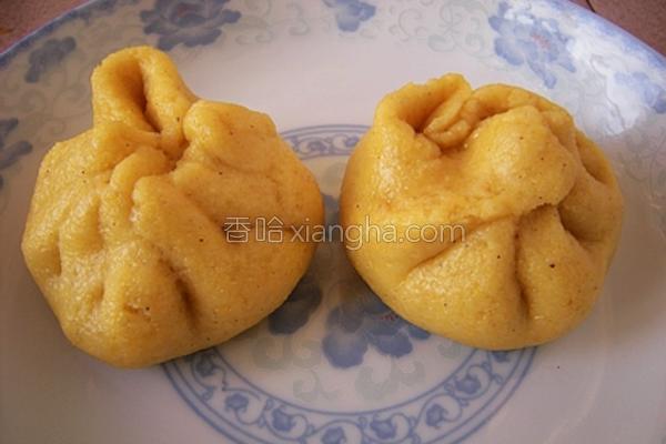尖椒馅玉米面包子的做法