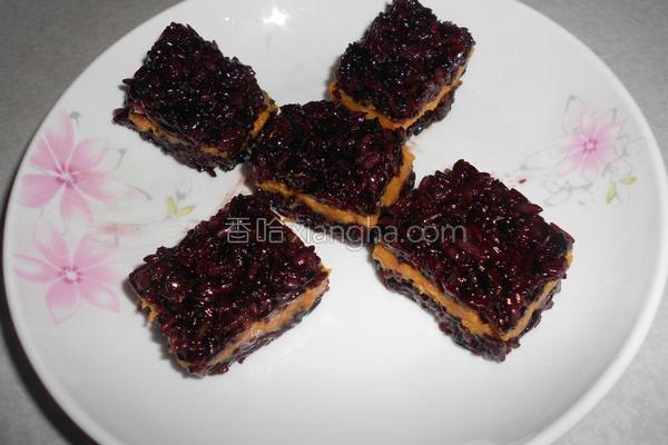 地瓜紫米糕的做法
