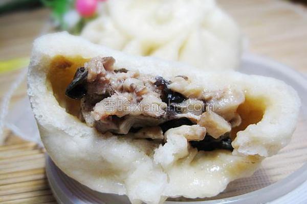 香菇木耳猪肉包子的做法
