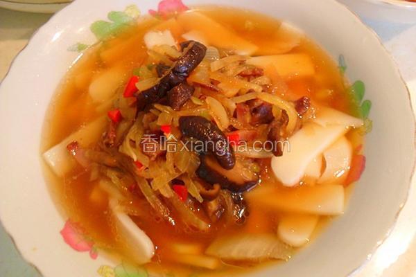 香菇肉丝汤年糕