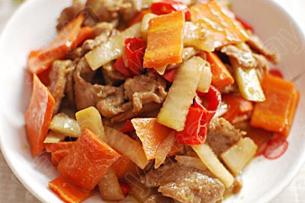 泡菜炒鸭肉